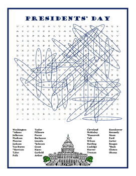Presidents' Day Word Search