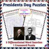 Presidents Day Word Search & Crossword Puzzles: Print & Pa
