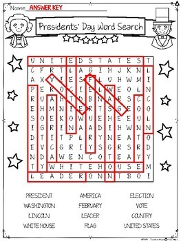 Presidents' Day Word Search {Differentiated}