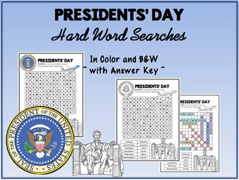 Presidents' Day Word Search - Hard