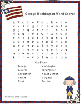 Presidents' Day Word Searches