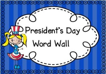 President's Day Word Wall