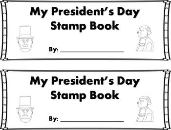 President's Day Words Stamp Book