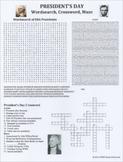 President's Day Wordsearch Crossword Maze