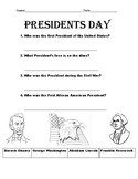 Presidents' Day Worksheet Cut and Paste