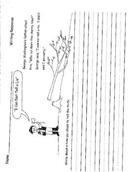Presidents Day Worksheets Writing Math Lincoln Washington Kindergarten