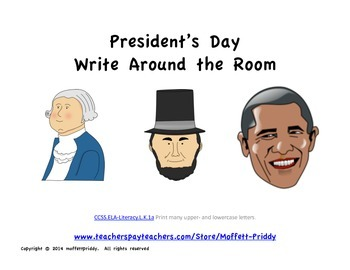 President's Day Write Around the Room