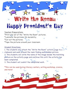 President's Day - Write the Room Activity