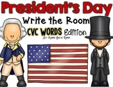 President's Day Write the Room - CVC Words Edition
