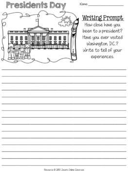 Presidents Day Writing Prompts {Narrative, Informative & Opinion Writing}