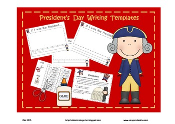 President's Day Writing (3 templates included)