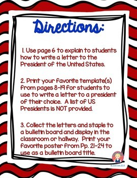 Presidents' Day Writing - English and Spanish