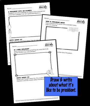 Presidents' Day Writing Draw and Write