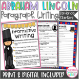 President's Day, George Washington & Abraham Lincoln Writing, Sentence Frames