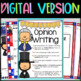 President's Day Opinion Writing Sentence Starters/Frames, Close Reading Response