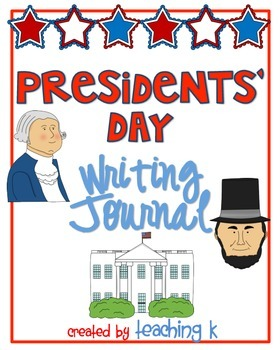 Presidents' Day Writing Journal With Prompts K-2