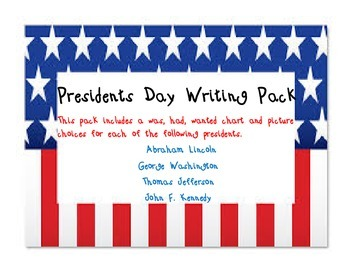 Presidents Day Writing Pack