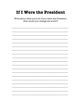 Presidents' Day Writing Prompt