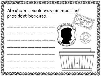 Presidents' Day Writing Prompts (K-2nd)