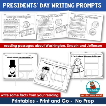Presidents' Day Writing Prompts and Printables
