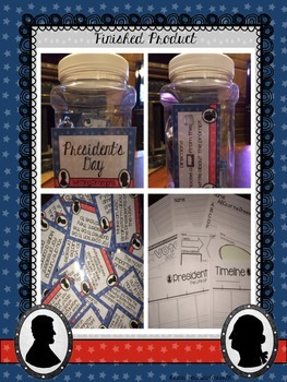 President's Day Writing Prompts in a Jar