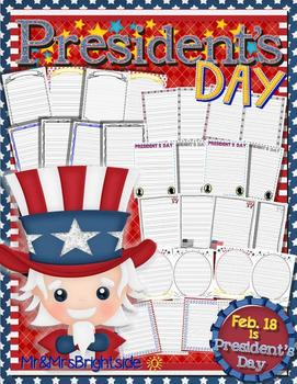 President's Day Writing Template