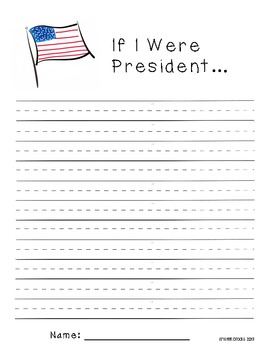 President's Day Writing and Coloring