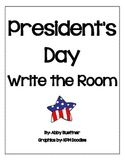 Presidents Day and Patriotic Write the Room