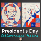 Presidents' Day Activities: Washington and Lincoln Collaborative Posters