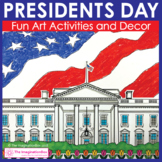 Presidents Day American Flag and The White House Art Activities