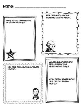 Presidents' Day graphic organizer - FREEBIE!