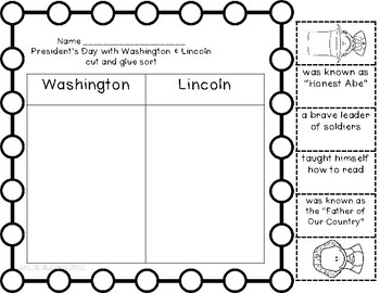 President's Day with Washington and Lincoln