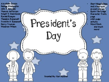 President's Day (worksheets, short bios & quizzes, and much more)