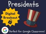 Presidents - Digital Breakout! (Escape Room, Brain Break, Presidents' Day)