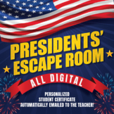 Presidents' Escape Room - STEM (All Digital - NO PREP) - P