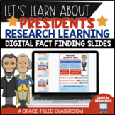 Presidents' Fact Finding Research Digital Resource for GoogleClassroom™