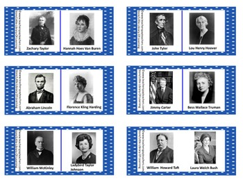 Presidents & First Ladies Dominoes