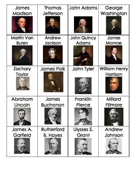 Presidents Flashcards