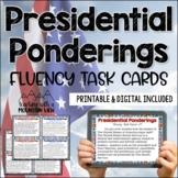 Presidents Fluency Task Cards