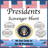 Presidents Scavenger Hunt  President's Day Review