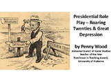 Presidents Harding Through Hoover Role Play, Notes, Graphi