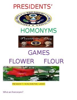 Presidents' Homonyms Games