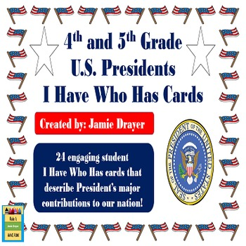 United States President's Contributions and Order of Office I Have Who Has Cards