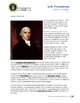 Presidents Lesson 4 - Madison