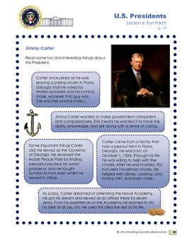Presidents Lesson 6 - Fun Facts