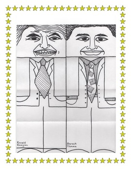 Presidents Line Drawings