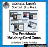 Presidents Matching Card Game - All 46 Presidents Flash Cards