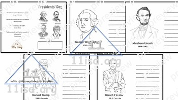 Presidents' Day Mini Book (English)