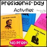 Presidents' Day Crafts Kindergarten, first grade activities
