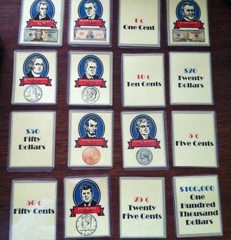 Presidents & Money Memory Game